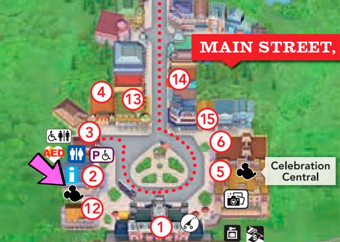 mapa Coelhinho e a Coelhinha da Páscoa no Magic Kingdom