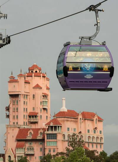 benefícios hotéis Disney Skyliner