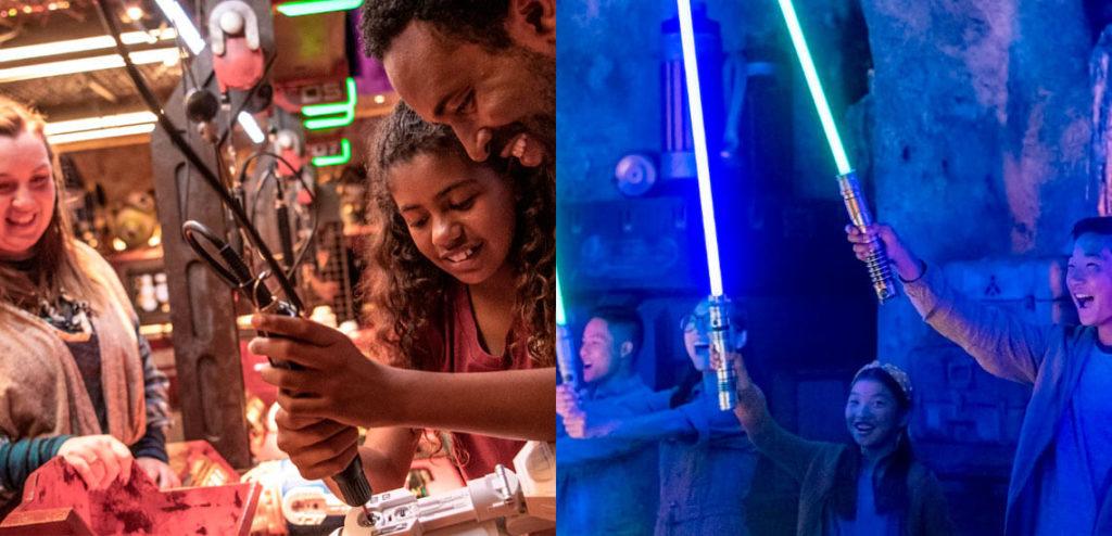 disney star wars reserva atividades sabre de luz e droid