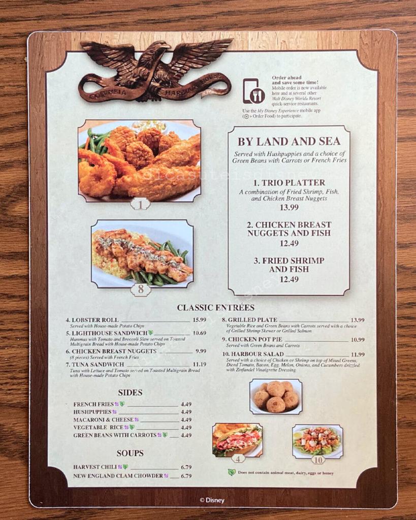 comer saudável magic kingdom menu