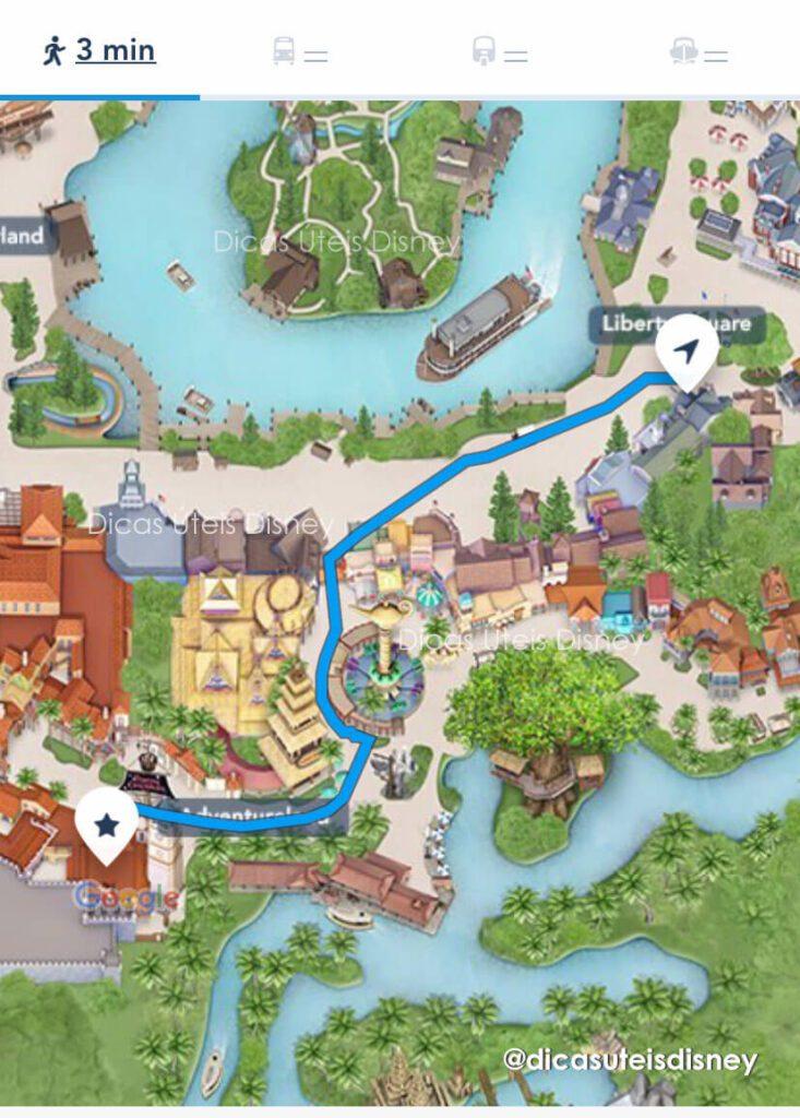Como é a área Adventureland do parque Magic Kingdom como chegar