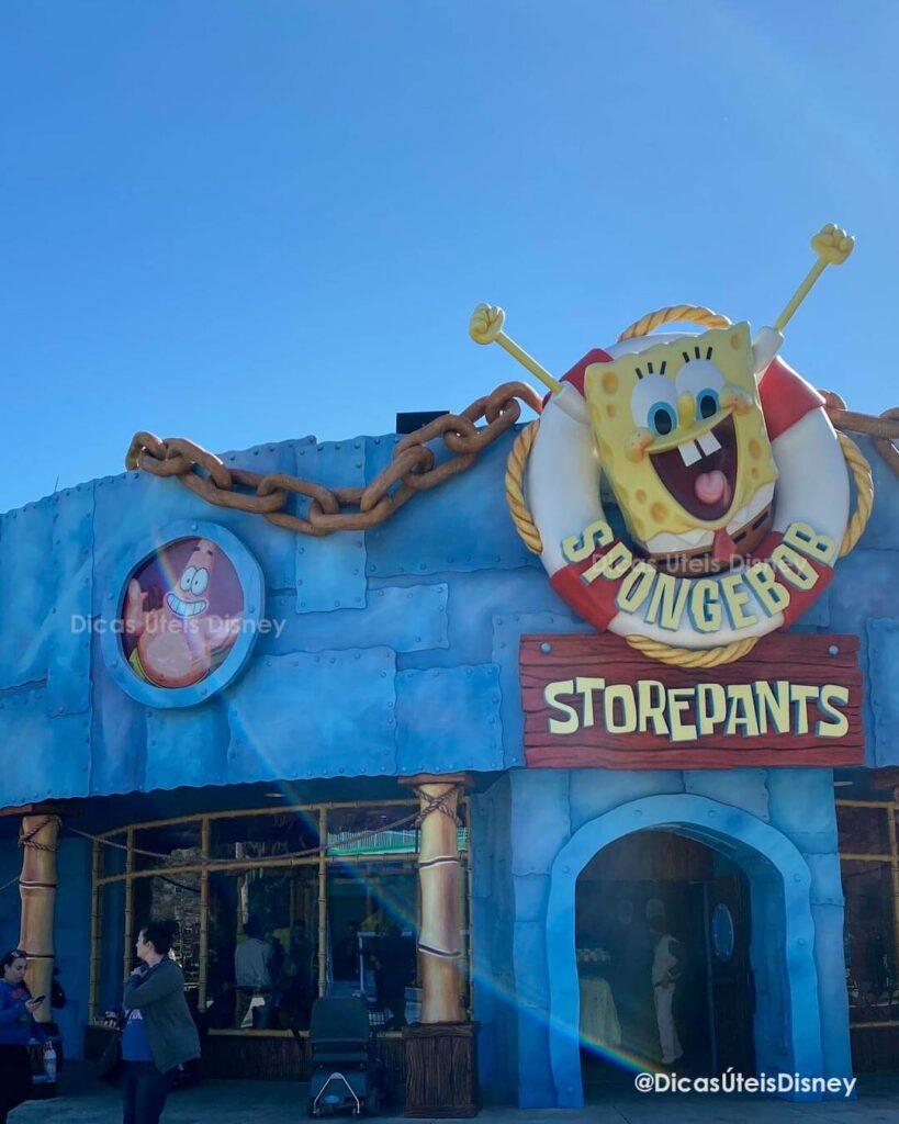 Como é a área Woody Woodpecker's na Universal Studios loja bob esponja