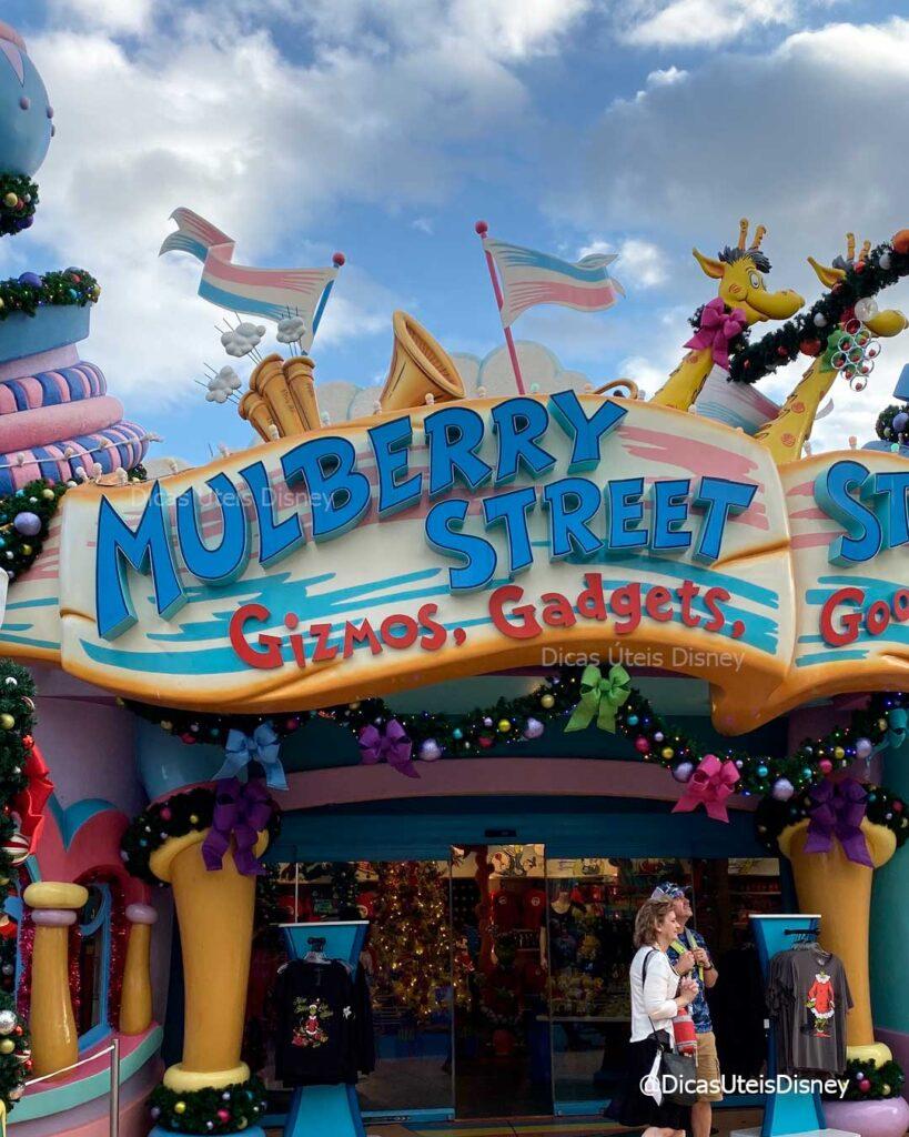 como-area-dr-seuss-parque-islands-of-adventure-loja-Mulberry-Stree-dicas-uteis-disney