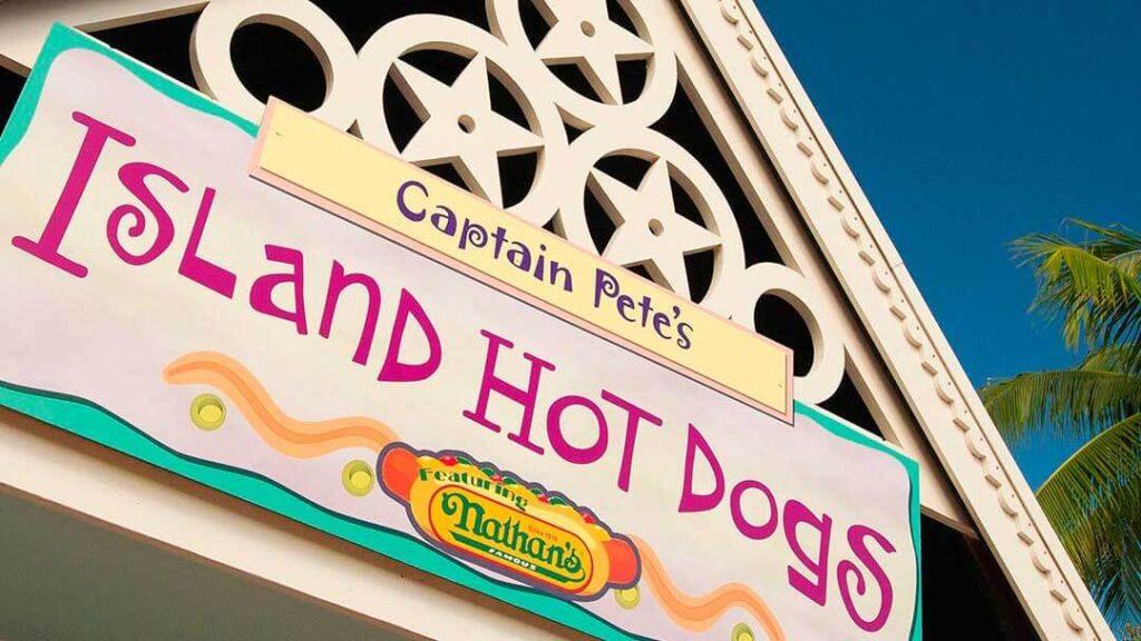 como-e-area-manta-seaworld-orlando-lanchonete-Captain-Petes-Island-Hot-Dogs-2-dicas-uteis-disney