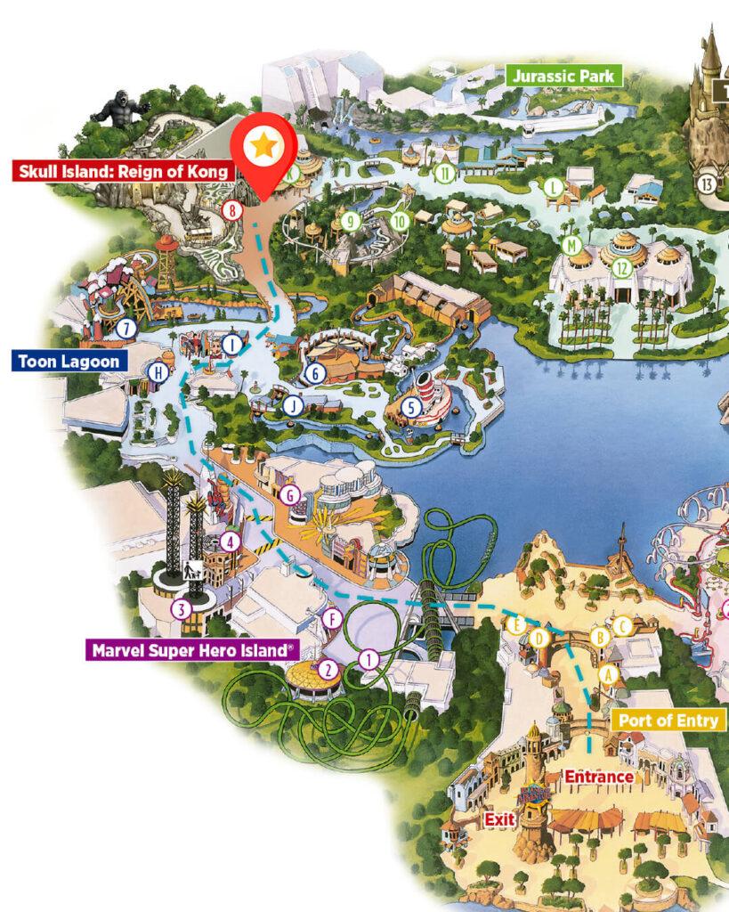como-sao-areas-skull-islands-the-lost-continent-parque-islands-of-adventure-atracao-king-kong-dicas-uteis-disney-Mapa2